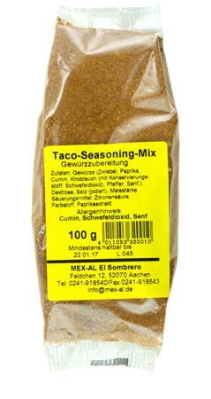 Przyprawa do Taco, Taco Seasoning Mix 100g Mex-Al