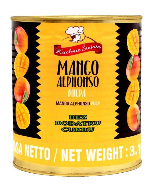 Pulpa Mango Alphonso Bez Cukru 3 1kg Kuchnie Swiata Sklep