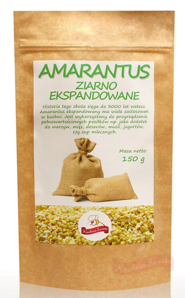 Amarantus ziarna ekspandowane