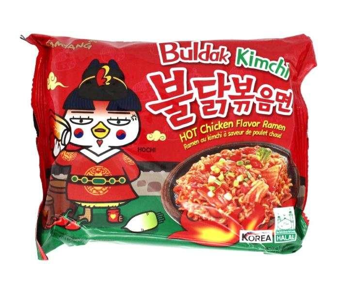 hot chicken flavour ramen kimchi