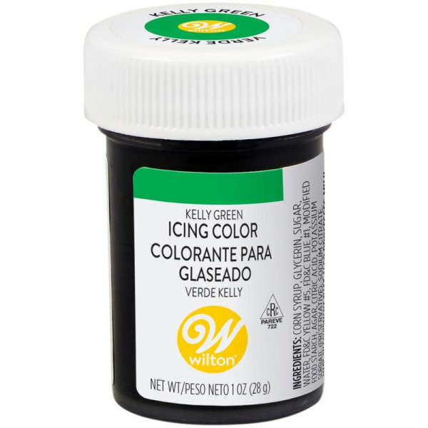 icing colour kelly green wilton