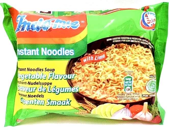 vegetable flavour instant noodles