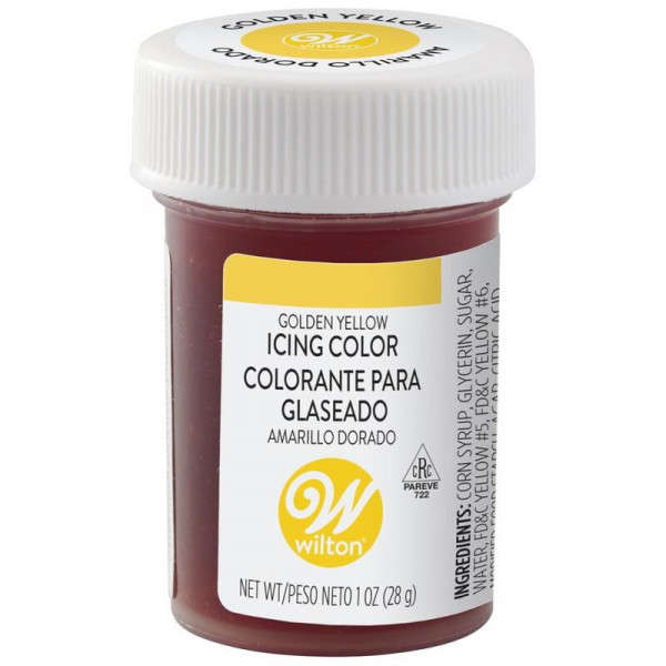 icing colour golden yellow wilton