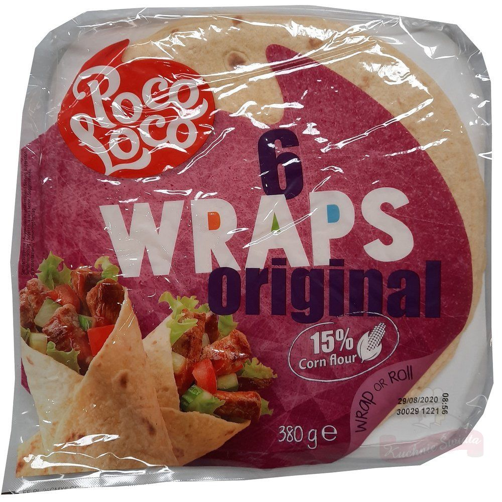 Wraps Original 6pcs, 15% corn flour