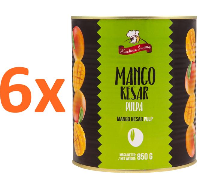 6 X Pulpa Mango Kesar 850g Kuchnie Swiata