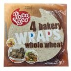 Wraps whole wheat, Tortille pełnoziarniste (4x~62g) 245g Poco Loco